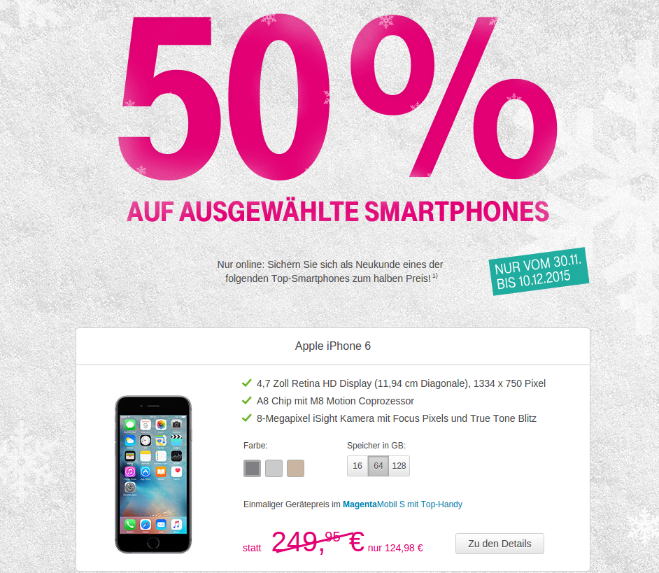 Telekom iPhone Deal Dez15