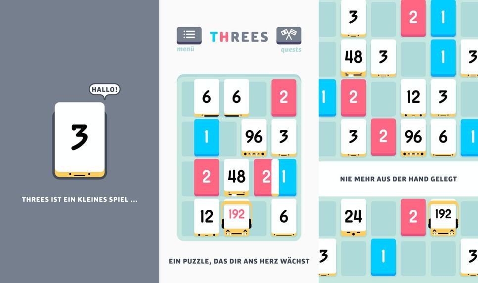 threes beliebtes zahlen puzzle jetzt im browser spielbar itopnews. Black Bedroom Furniture Sets. Home Design Ideas