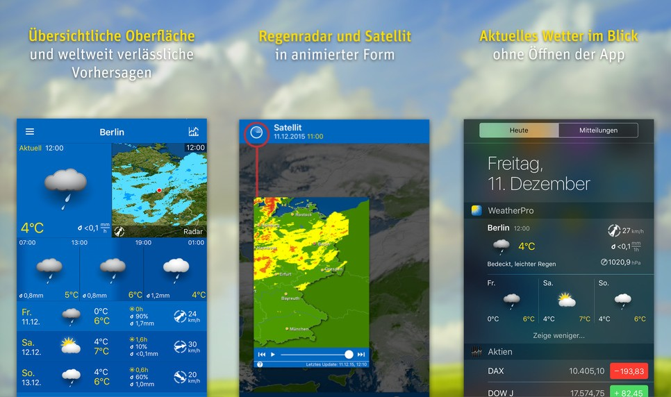 WeatherPro Screen