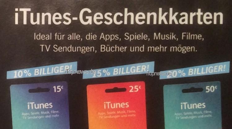 iTunes-Karten Lidl 07 12 2015