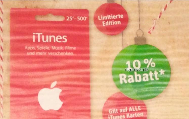 iTunes-Karten Penny 21.12.2015