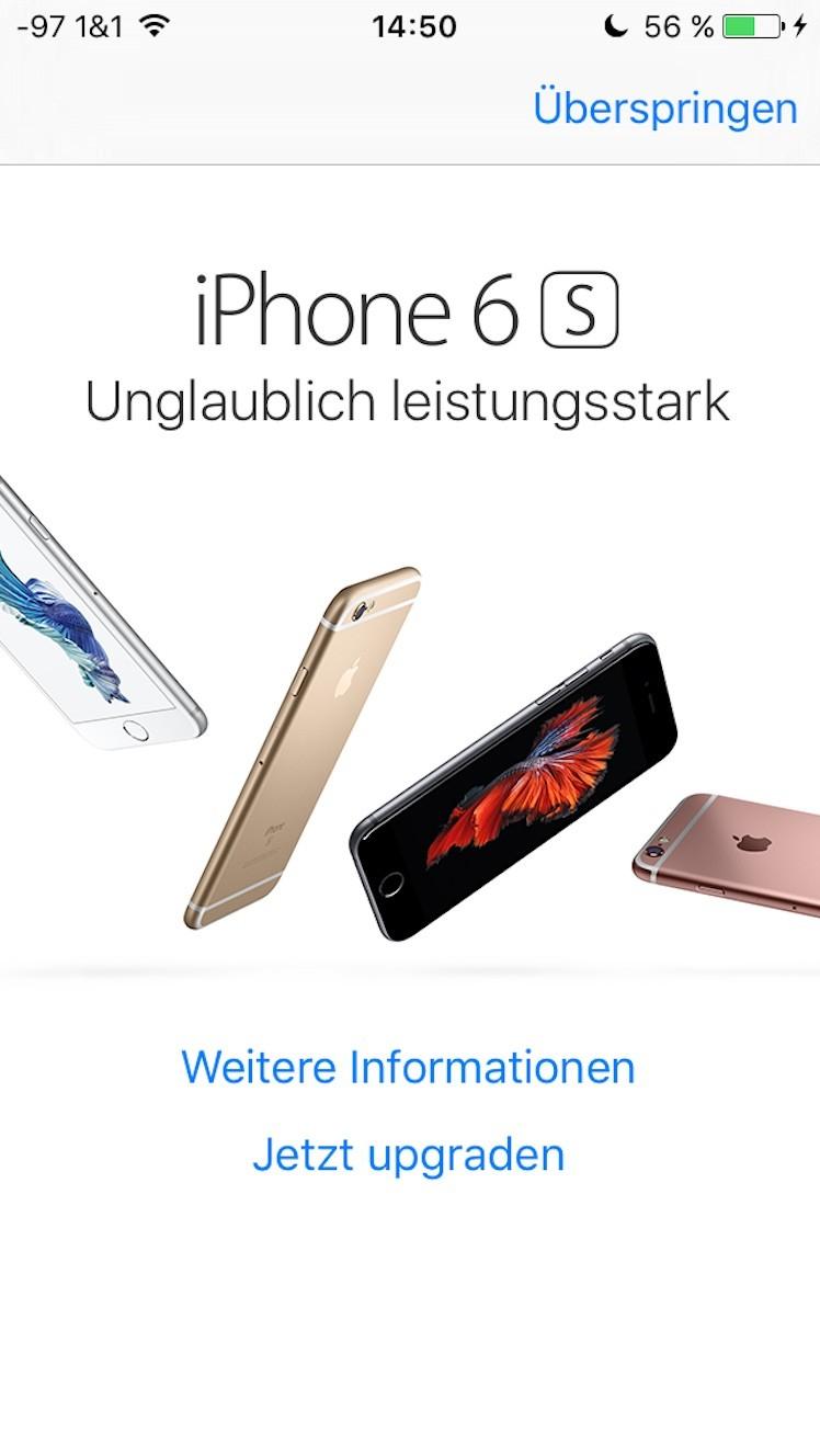 upgrade altes iPhone