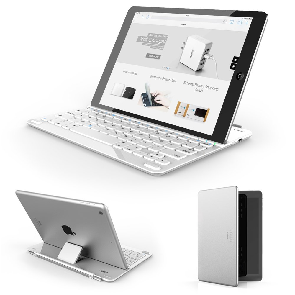 Anker Bluetooth Tastatur Case iPad
