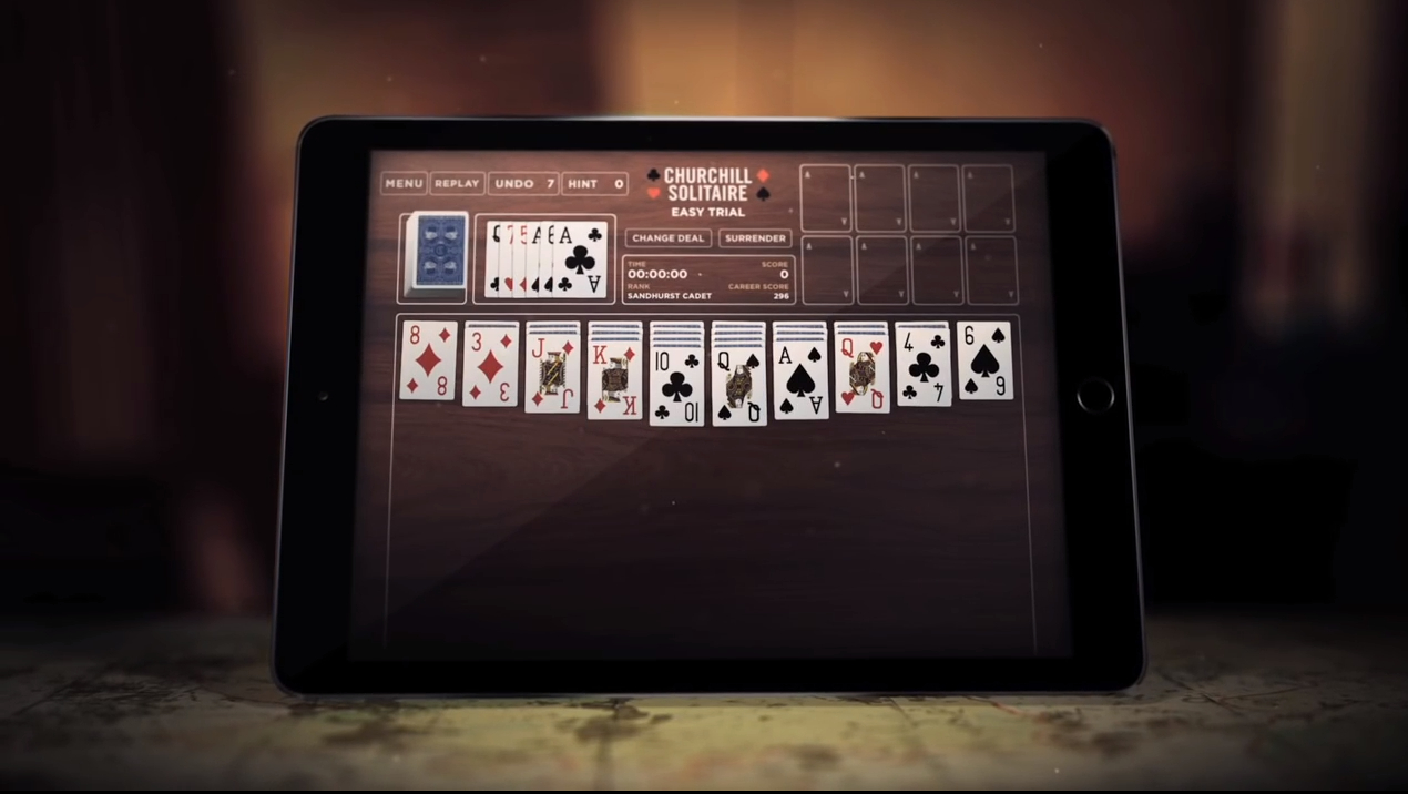 Churchill Solitaire Screen