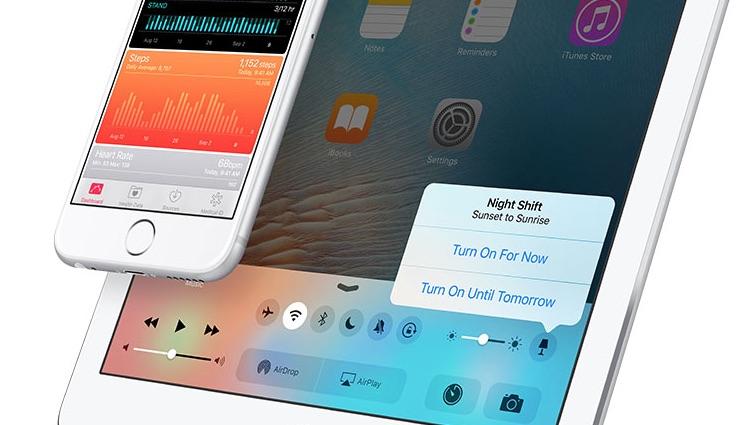 Nachtmodus Control Center iOS 9.3