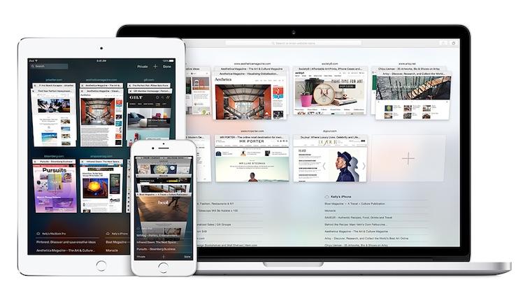 Safari Ansicht Mac und iOS