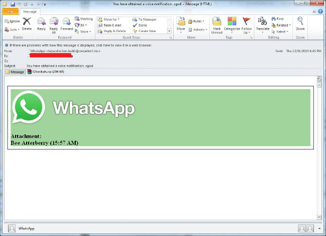WhatsApp Betrug Mail