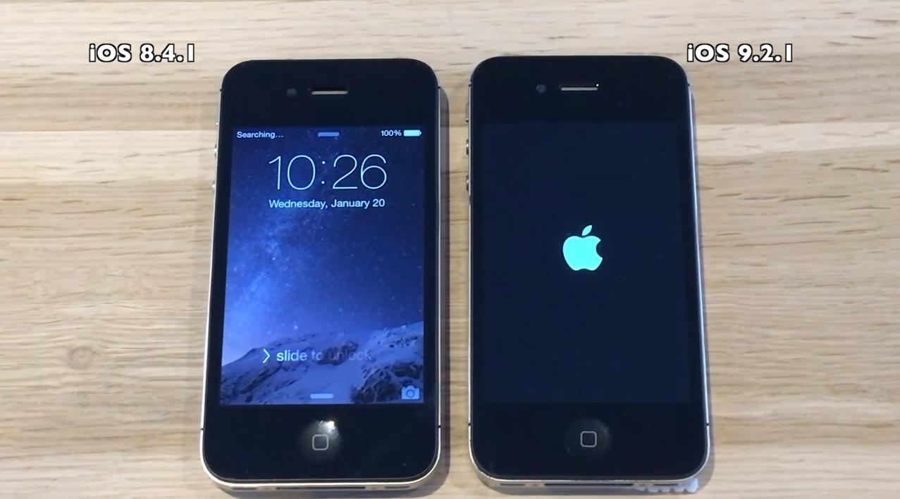 iOS 9 iOS 8 Video Vergleich