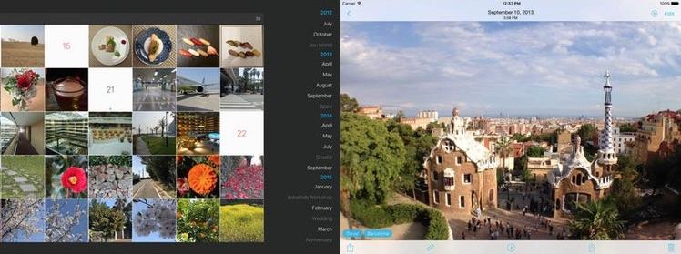 iPad HashPhotos Ansicht