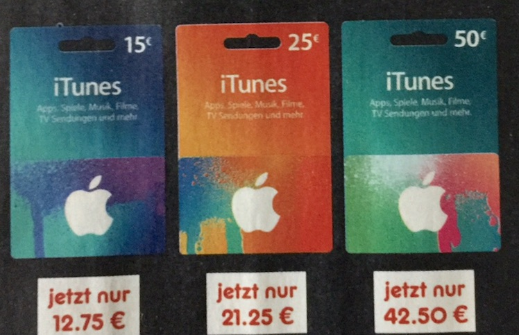iTunes Karte Netto 1.2.2016