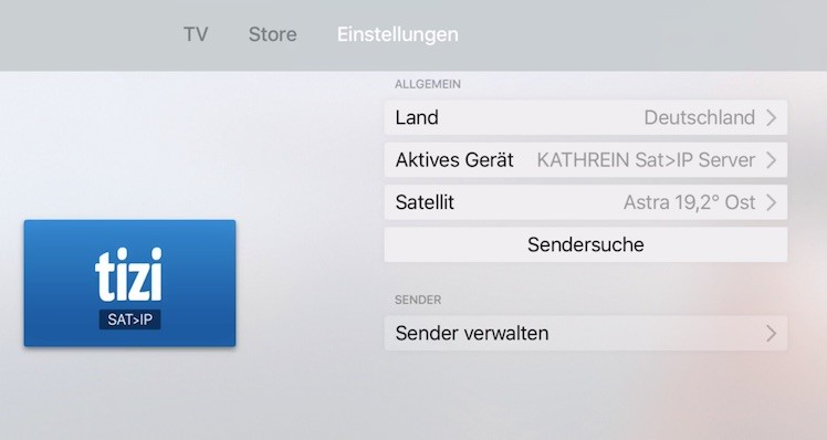 tizi neue app bringt satelliten fernsehen auf neues apple tv itopnews. Black Bedroom Furniture Sets. Home Design Ideas