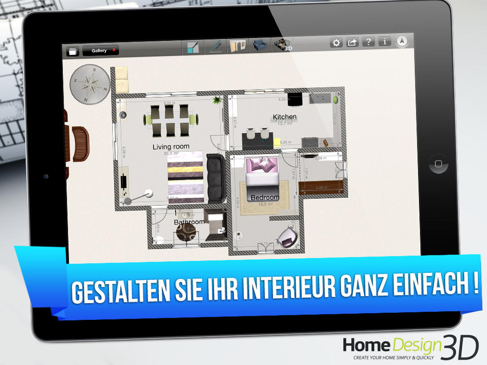 Home Design 3D Screen