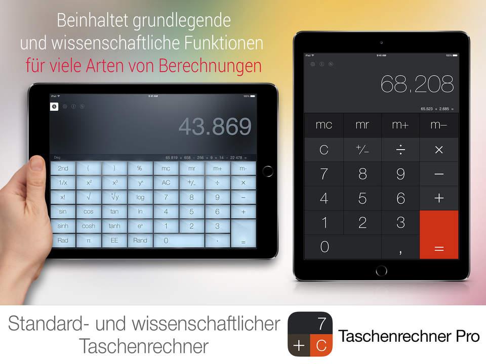 Taschenrechner Pro Screen