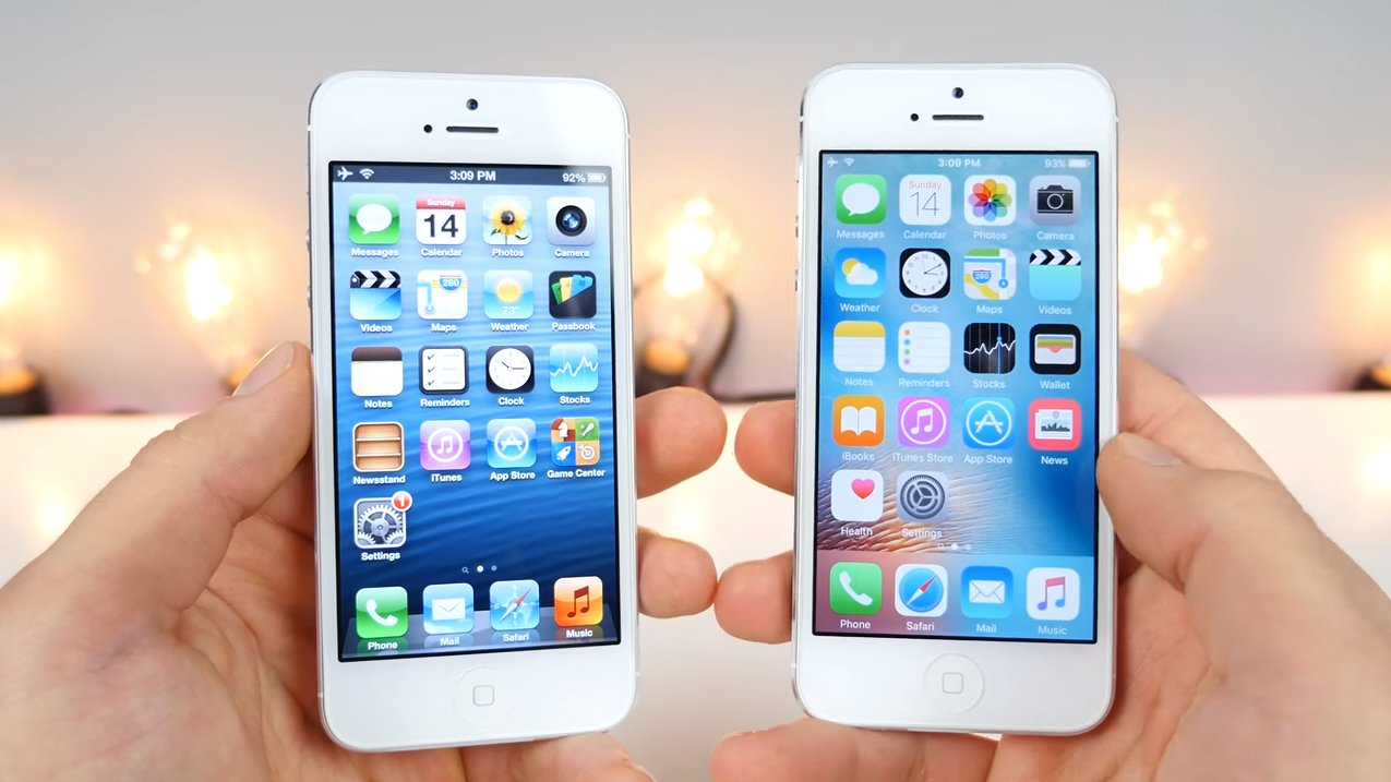 iOS 9 vs iOS 6 Video Vergleich