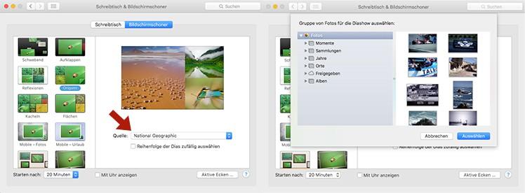 Bildschirmschoner Mac