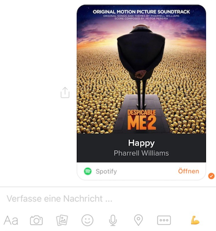 FB Messenger Spotify