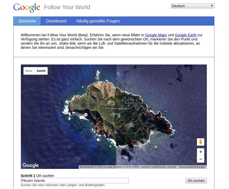 Google Follow Your World