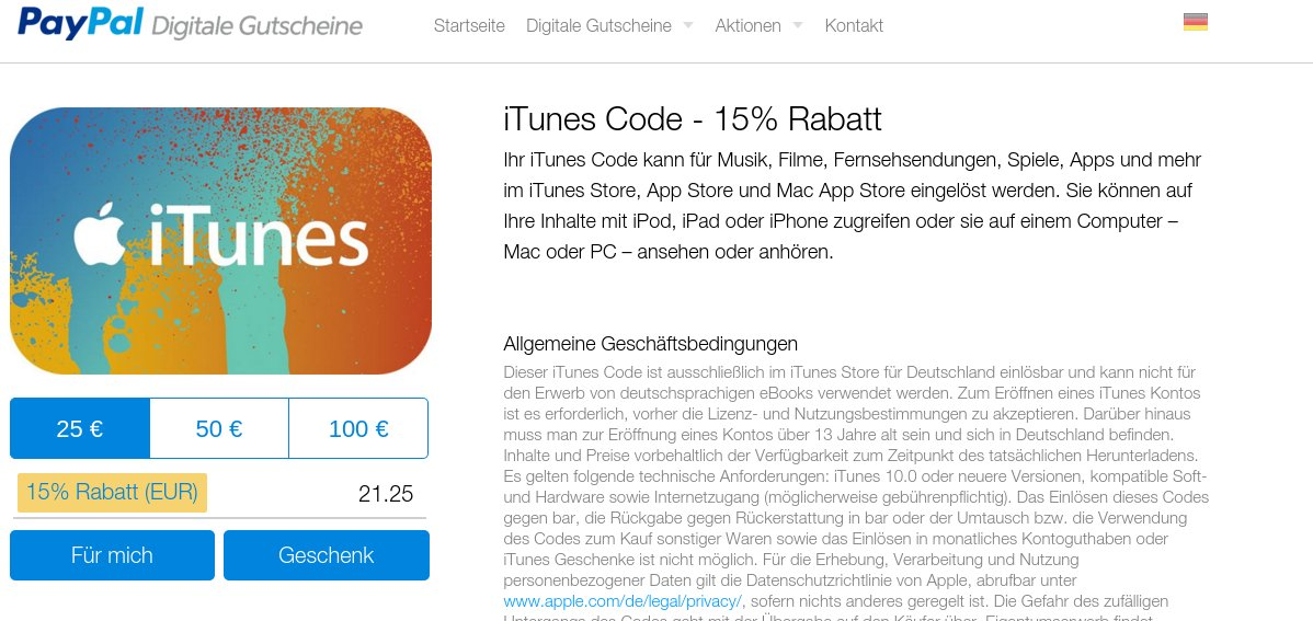 PayyPal iTunes