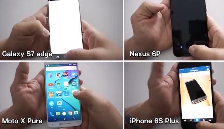 Speedtest vier Smartphones