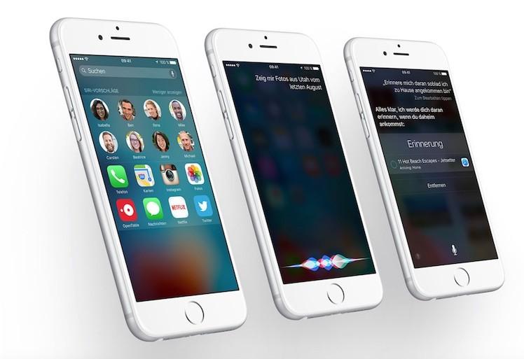 iOS 9.3 Ansicht