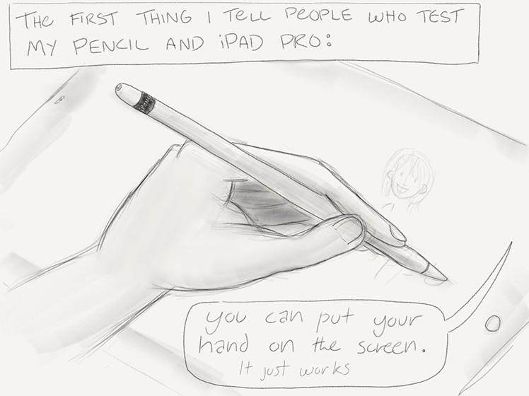 Comic-Test Pencil iPad Pro