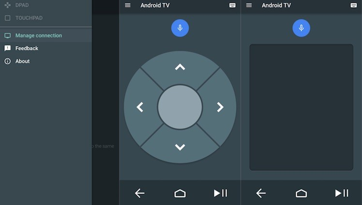 Android TV Ansicht