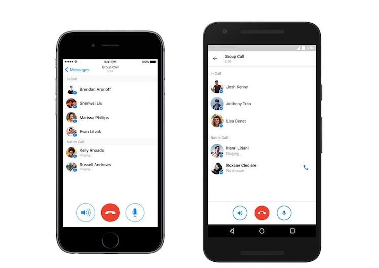 Facebook Messenger Gruppenanrufe bis zu 50 Androidansicht
