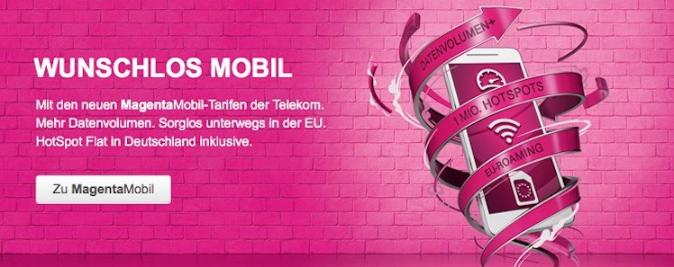 MagentaMobil Telekom neu April 2016