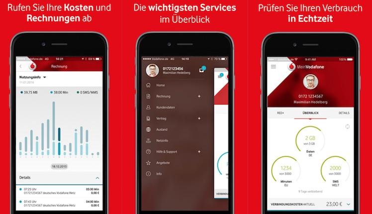 Mein Vodafone Ansicht