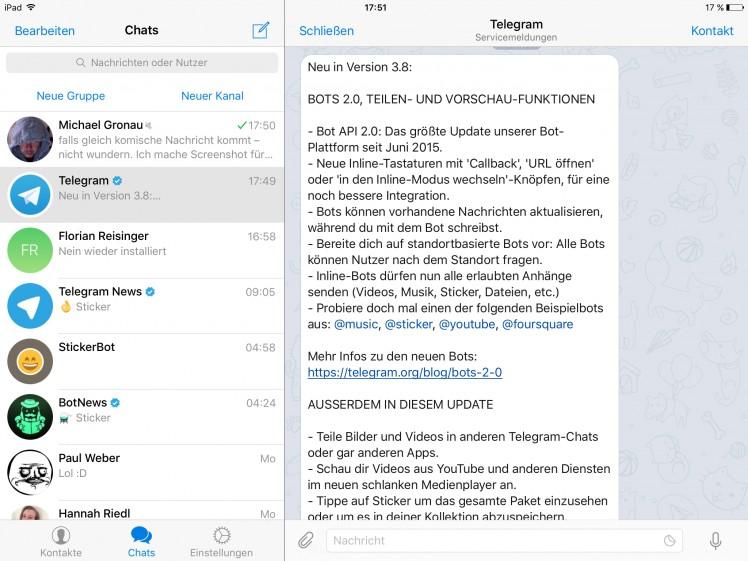 Telegam Update
