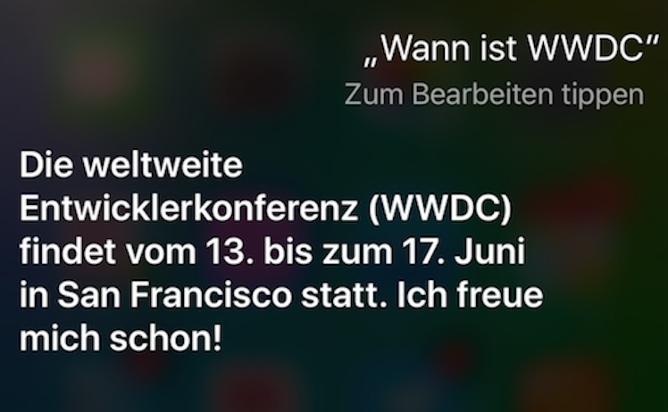 WWDC Siri 2016