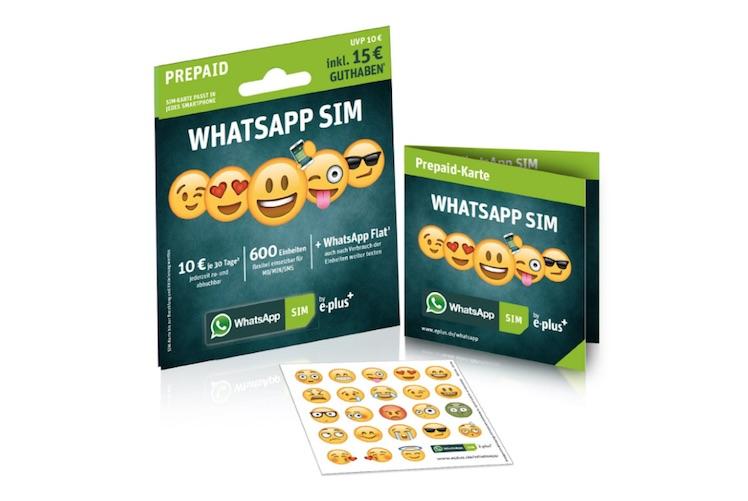 WhatsApp SIM mit Bonus