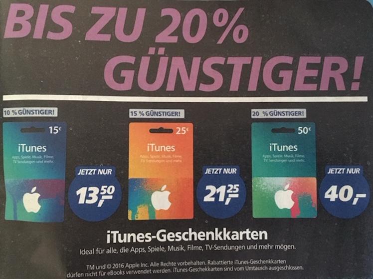 real ab 18.4. iTunes-Karten