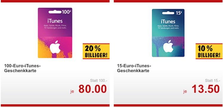 Kaufland ab 9.5.2016 iTunes-Karten