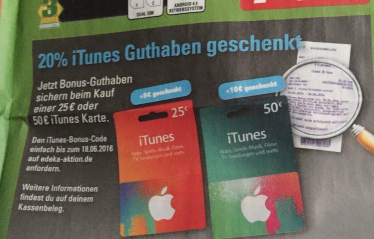 Marktkauf iTunes-Karten ab 30.5.2016