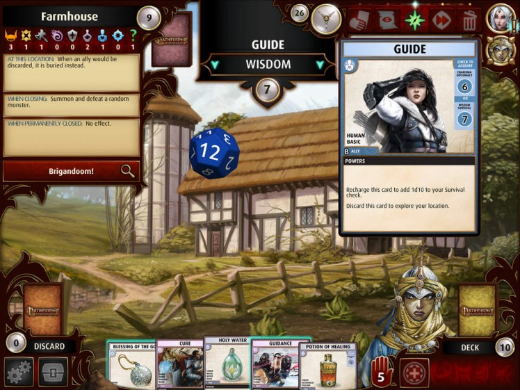 Pathfinder Adventures Screen