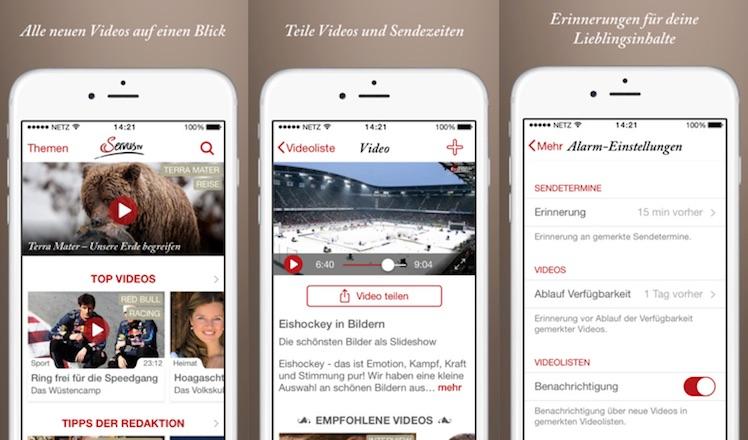Servus TV Ansicht App