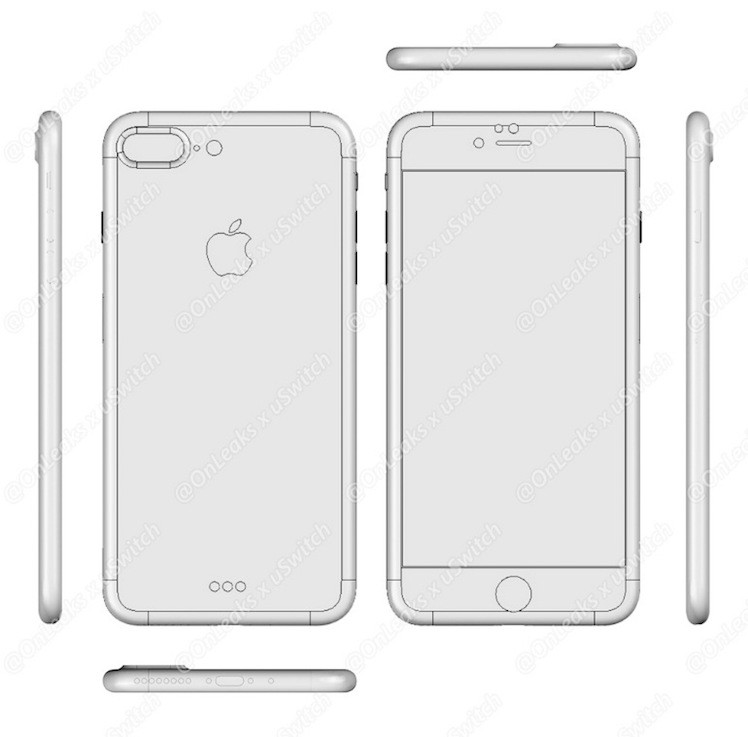 USwitch iPhone 7 drawings leak uswith.com