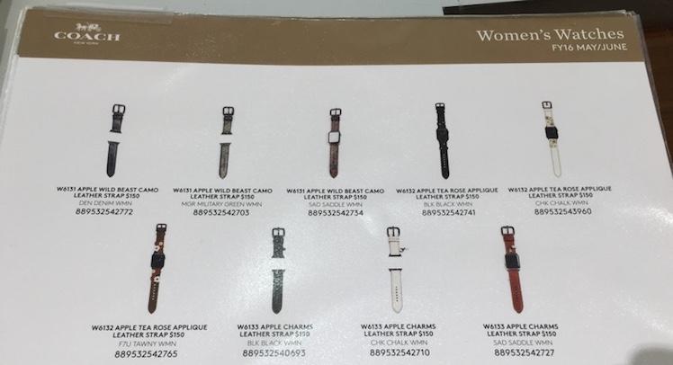 Coach Armband Apple Watch