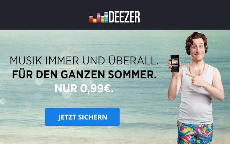 Deezer Aktion Juni 2016