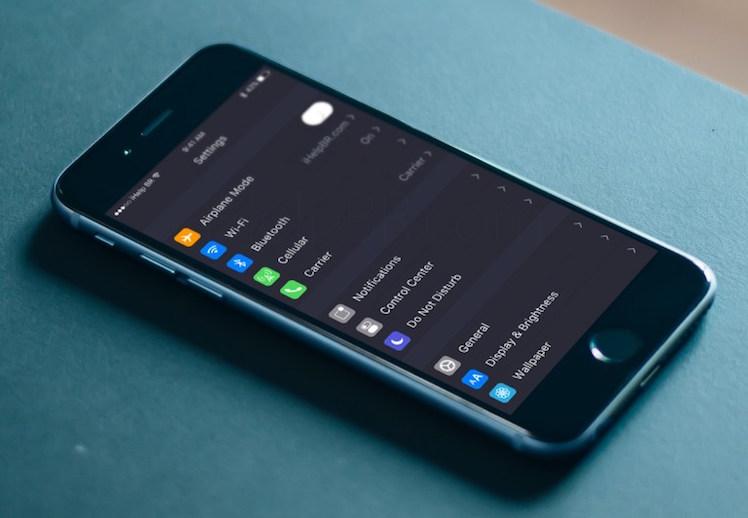 Design iOS 10 dark mode konzept