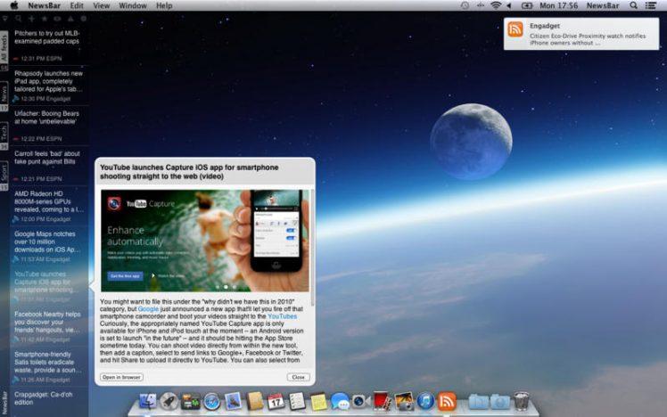 NewsBar Screen