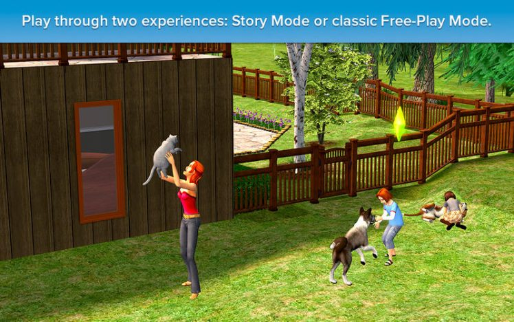Sims 2 Pet Stories Screen