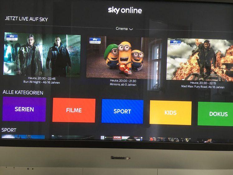 Sky online Apple TV 4
