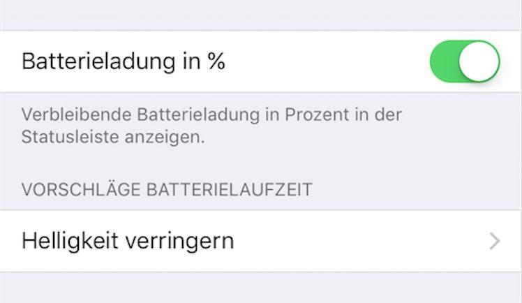 iOS 10 Akku Spartipp