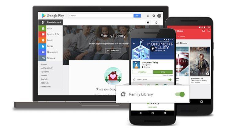 Google Family Sharing