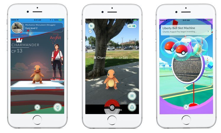 Pokemon Go Ansicht 3 Screens