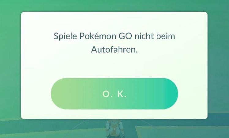Pokemon Go Autofahren