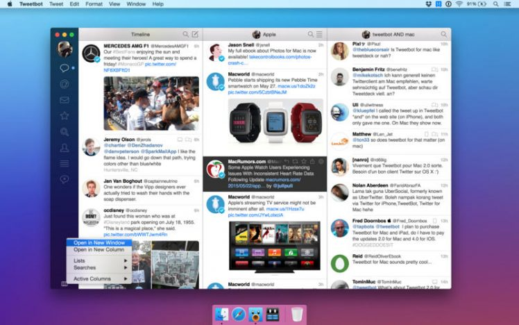 Tweetbot Mac Screen