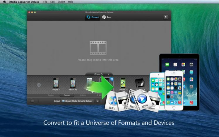 iSkysoft iMedia Converter Deluxe Screen